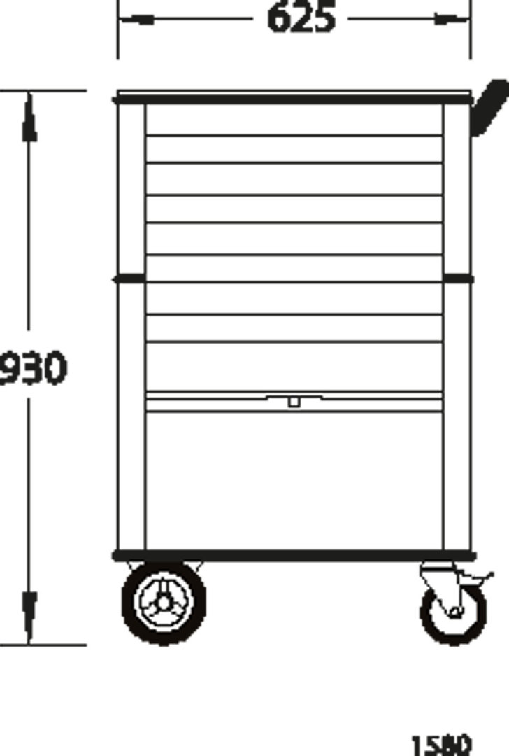 Gedore 1580 - Carro porta-herramientas con 4 cajones - Gedore 532c208caf75