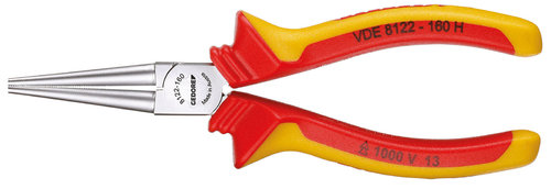 Gedore VDE 8132-160 Alicate boca semiredonda VDE con aislamiento de inmersi/ón