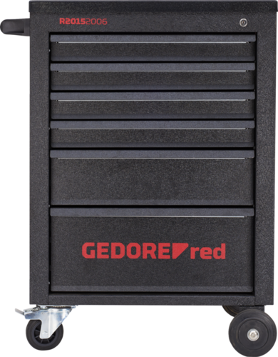 GEDORE red R20152006 - Carro de taller MECHANIC 6 cajones, negro, mate